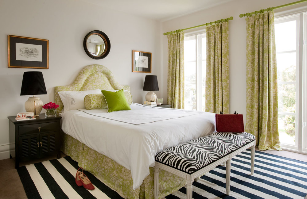 Delectable 25+ Black And White And Green Bedroom Design Decoration ...