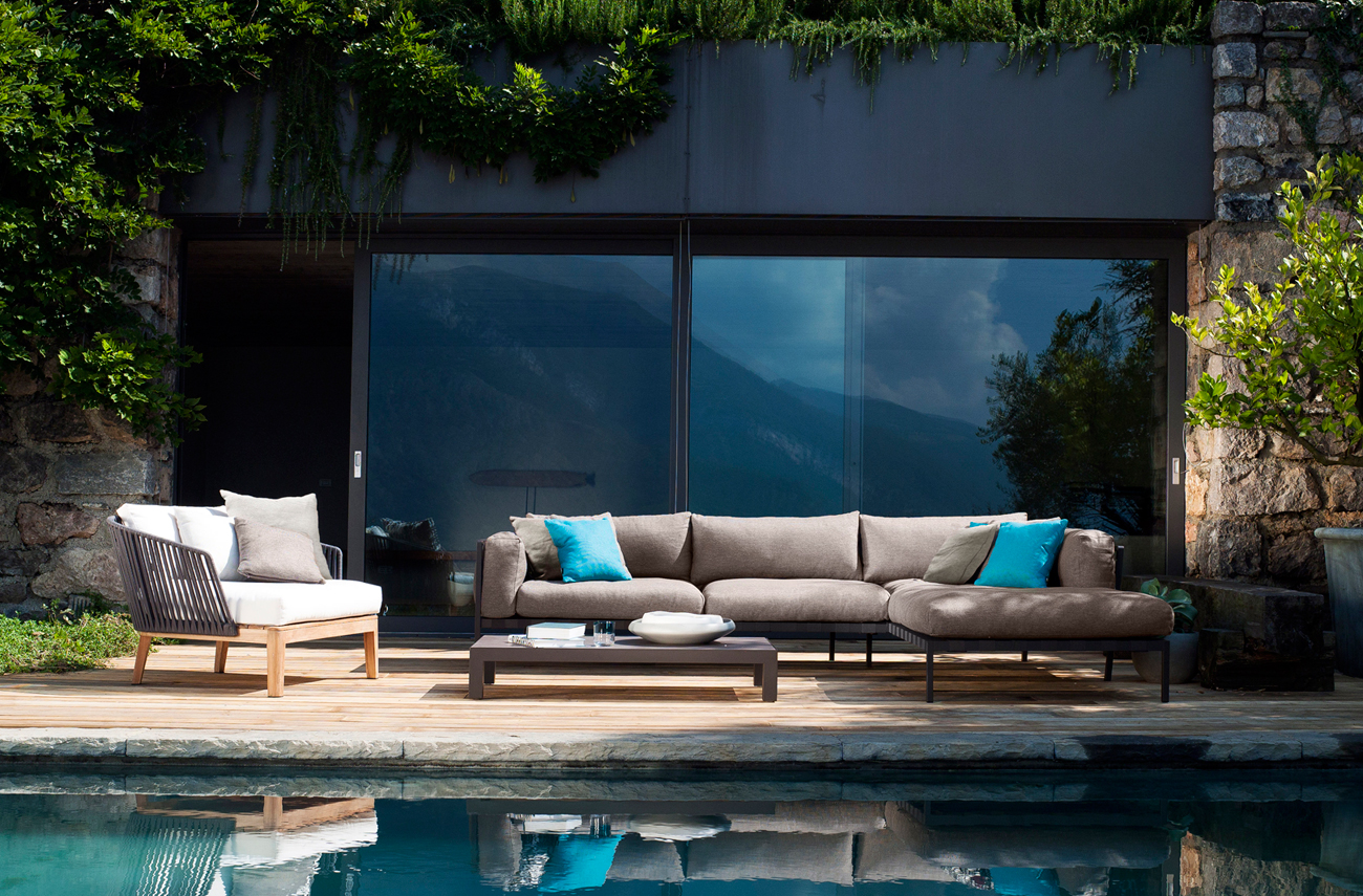 Mood Collection of Outdoor decor from Tribu for a relaxing poolside retreat