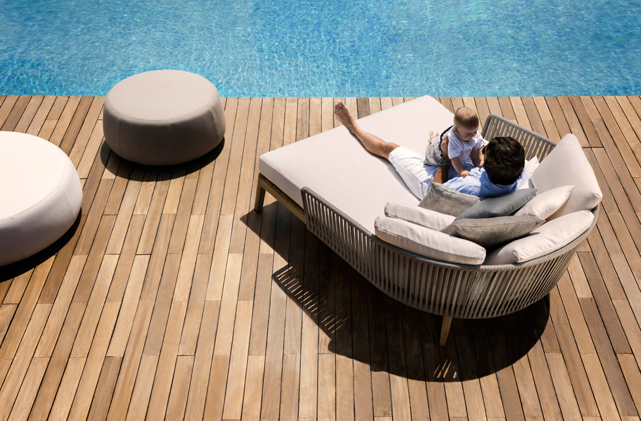 Mood Lounge bed on the pool deck