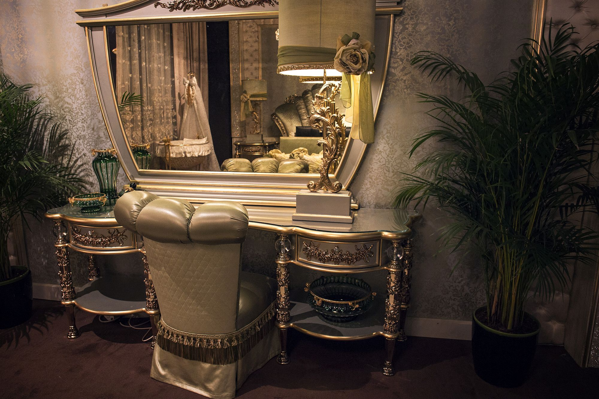 Ornate brings an air of luxury to this bedroom dressing area