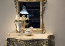 Ornate-entryway-console-table-couple-with-an-equally-captivating-mirror-217x155