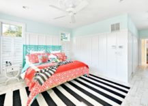 Pastel-bedroom-with-monochrome-striped-rug-217x155