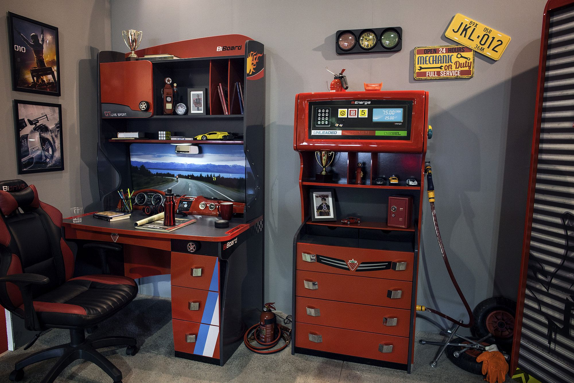Retro style homework zone borrows from the form of arcade games