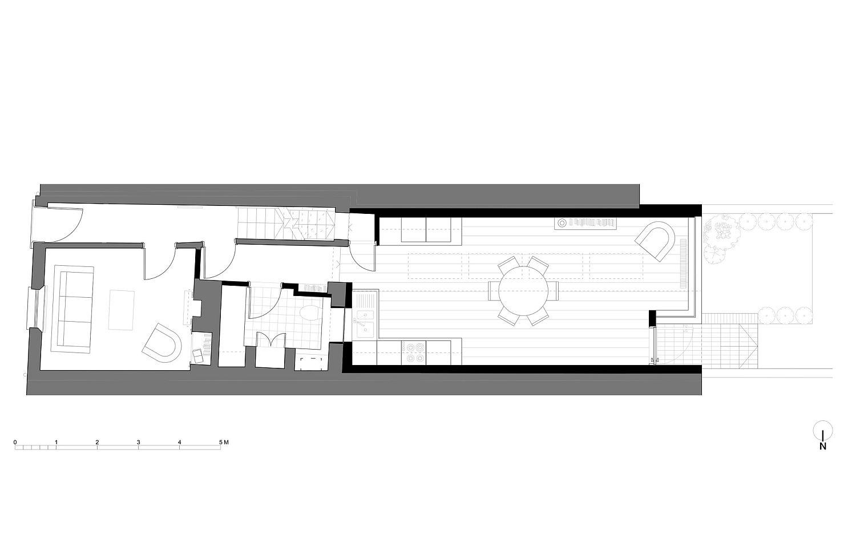 Revamped floor plan of the ground floor
