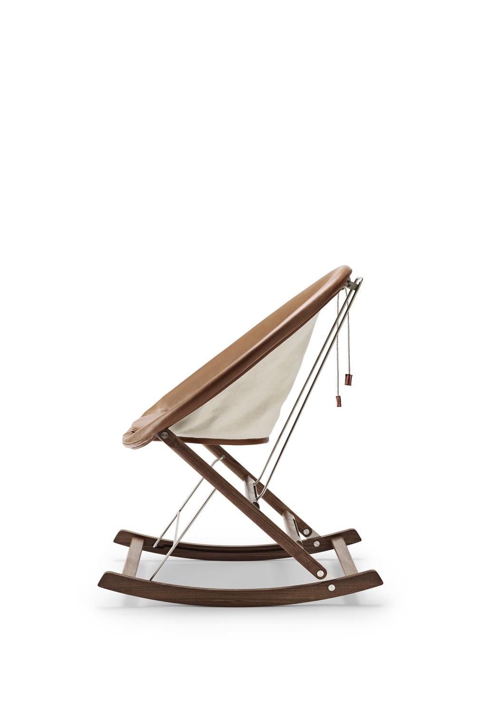 Rocking Nest Chair in walnut