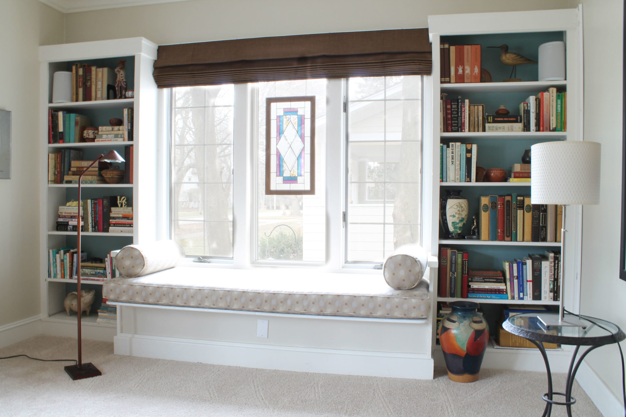 Bay window seat books - Open Up The Room