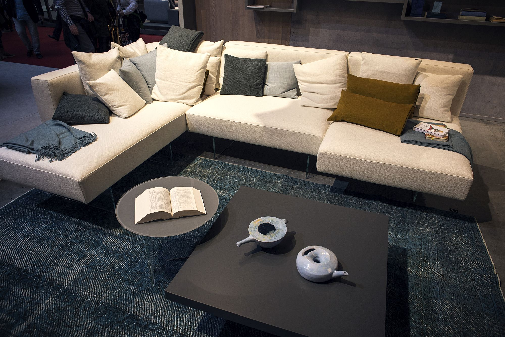Sleek modular contemporary couch in white from Lago