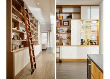 Smart-shelving-with-ladder-makes-use-of-vertical-space-217x155