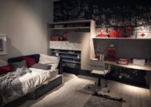 Smart-teen-bedroom-with-pops-of-red-and-black-217x155