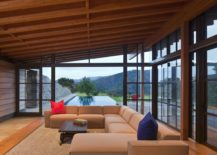 Stone glass and timber guest house in Santa Lucia Preserve California 217x155 Magical Mountain Views Greet You at this Guest House in Santa Lucia Preserve!