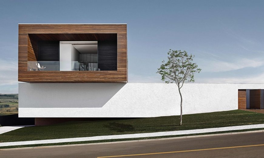 LA House: Cantilevered Brilliance Wrapped in Concrete and Wood