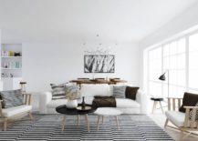 Striped-monochrome-rug-contributes-to-a-consitent-interior-217x155