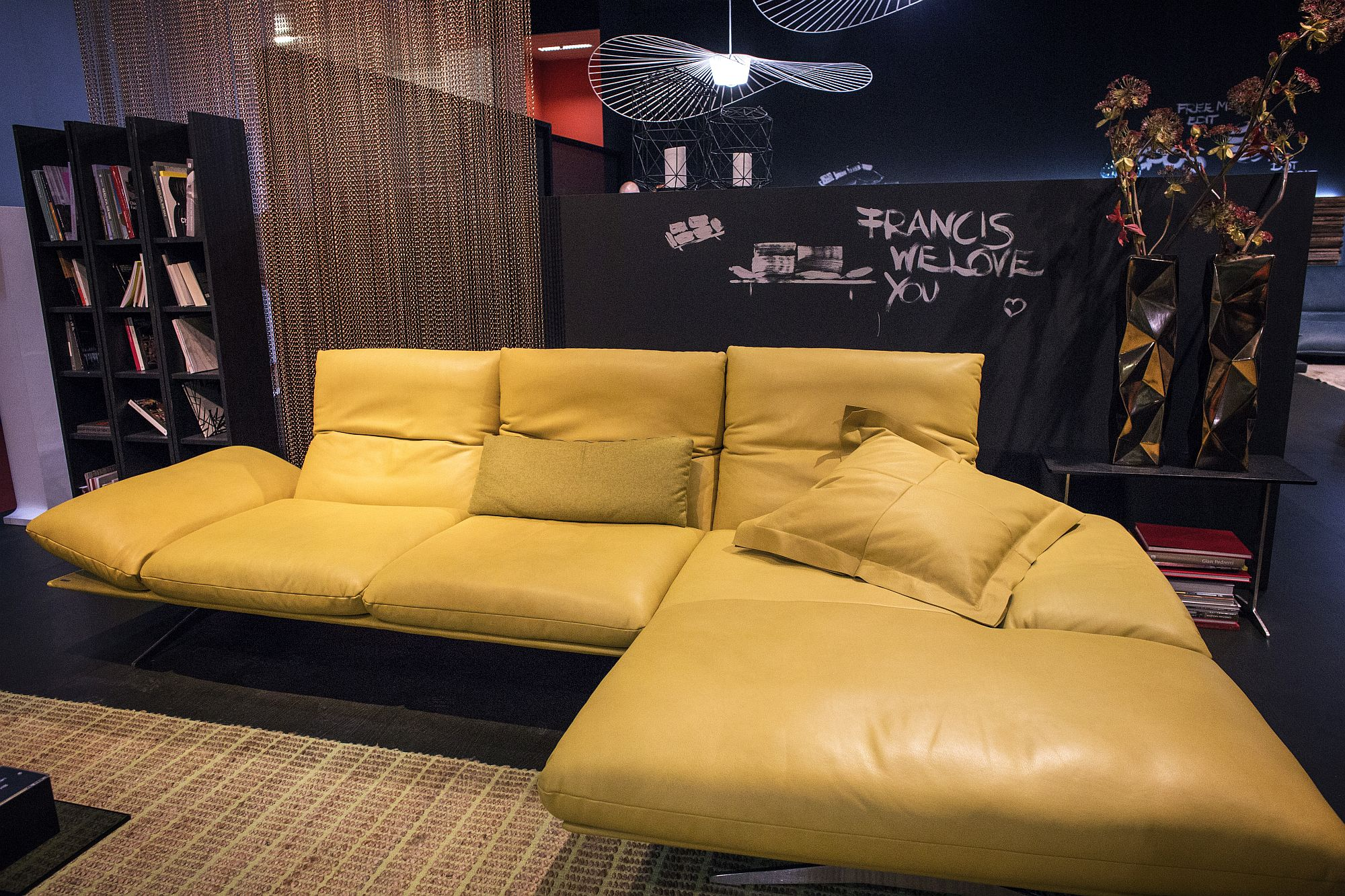 Stunning leather sectional with modular ease from Koinor