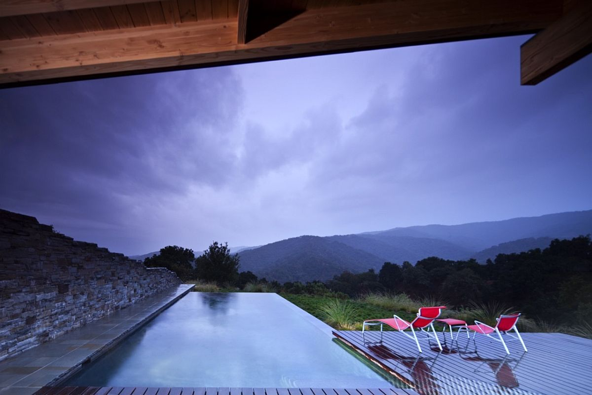 Stunning view of the rolling hills and natural forests around the guest house