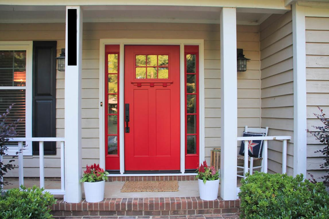 Front entry doors red - Charming Red Color
