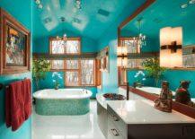 Turquoise-bathroom-that-feels-like-a-home-spa-217x155