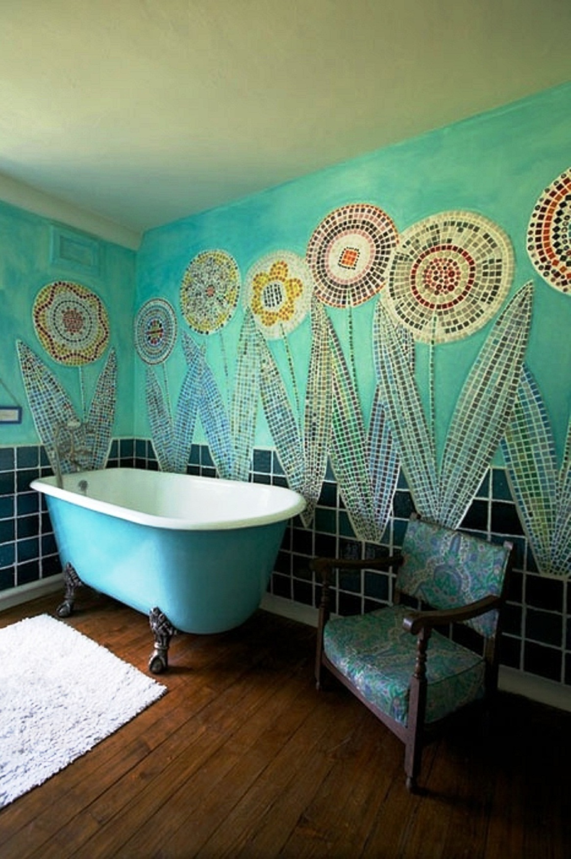 Turquoise bathrooms timeless and captivating interior for Interior wall decoration ideas
