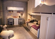 Twin-girls-bedroom-idea-with-a-smart-corner-workstation-217x155