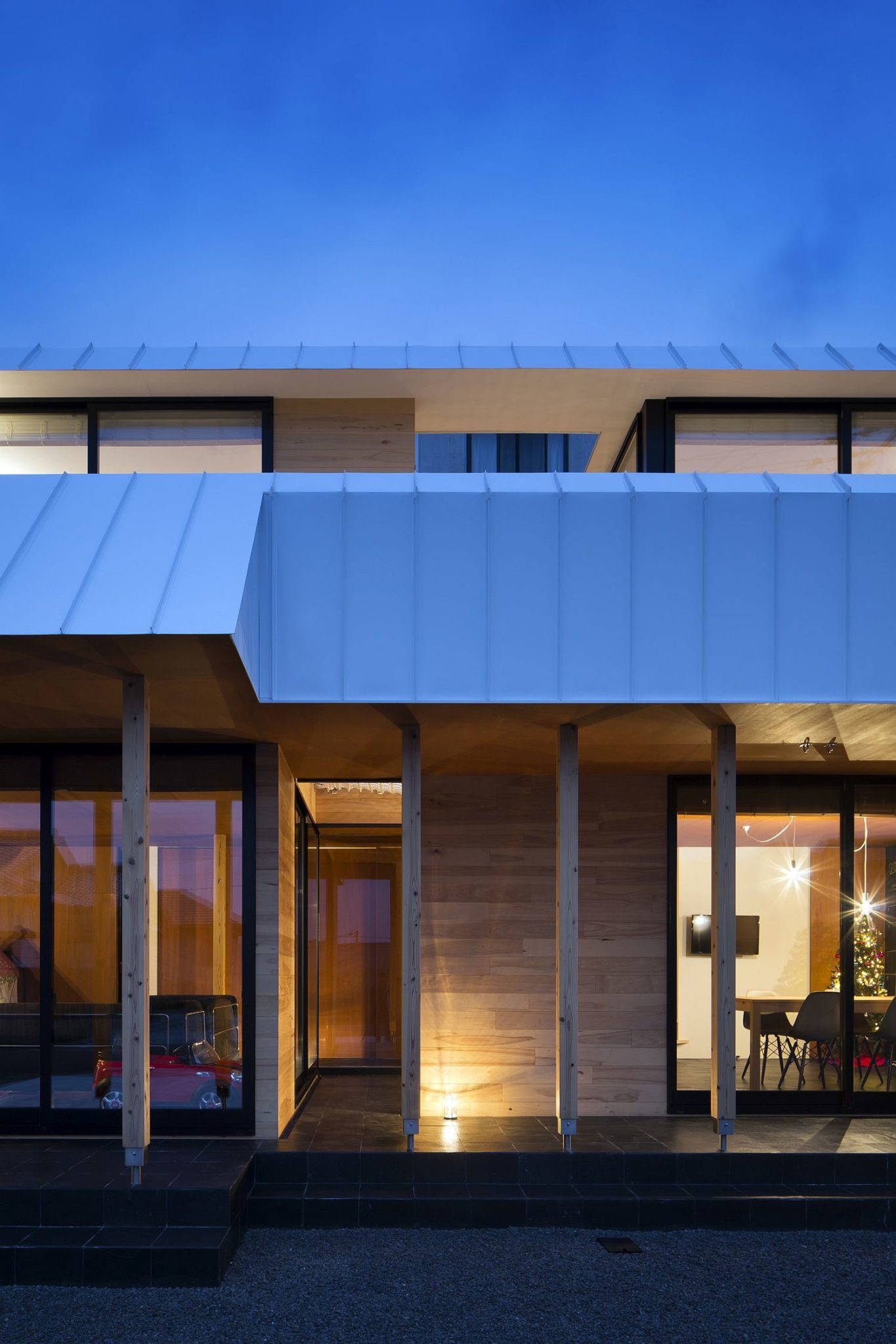 Unique design of the home is perfect for withstanding gusty winds