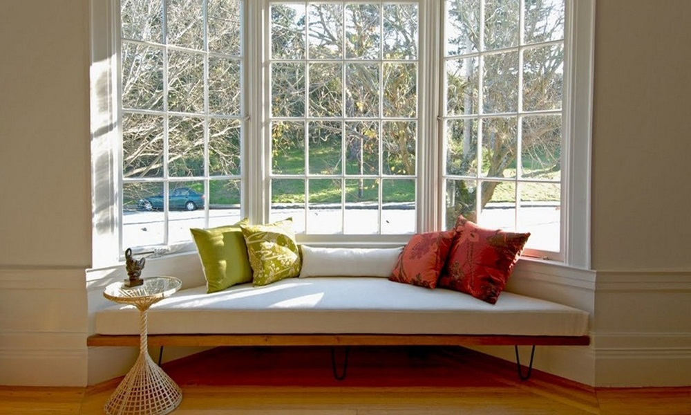 Unique window seat with incredibly cute and simplistic manner