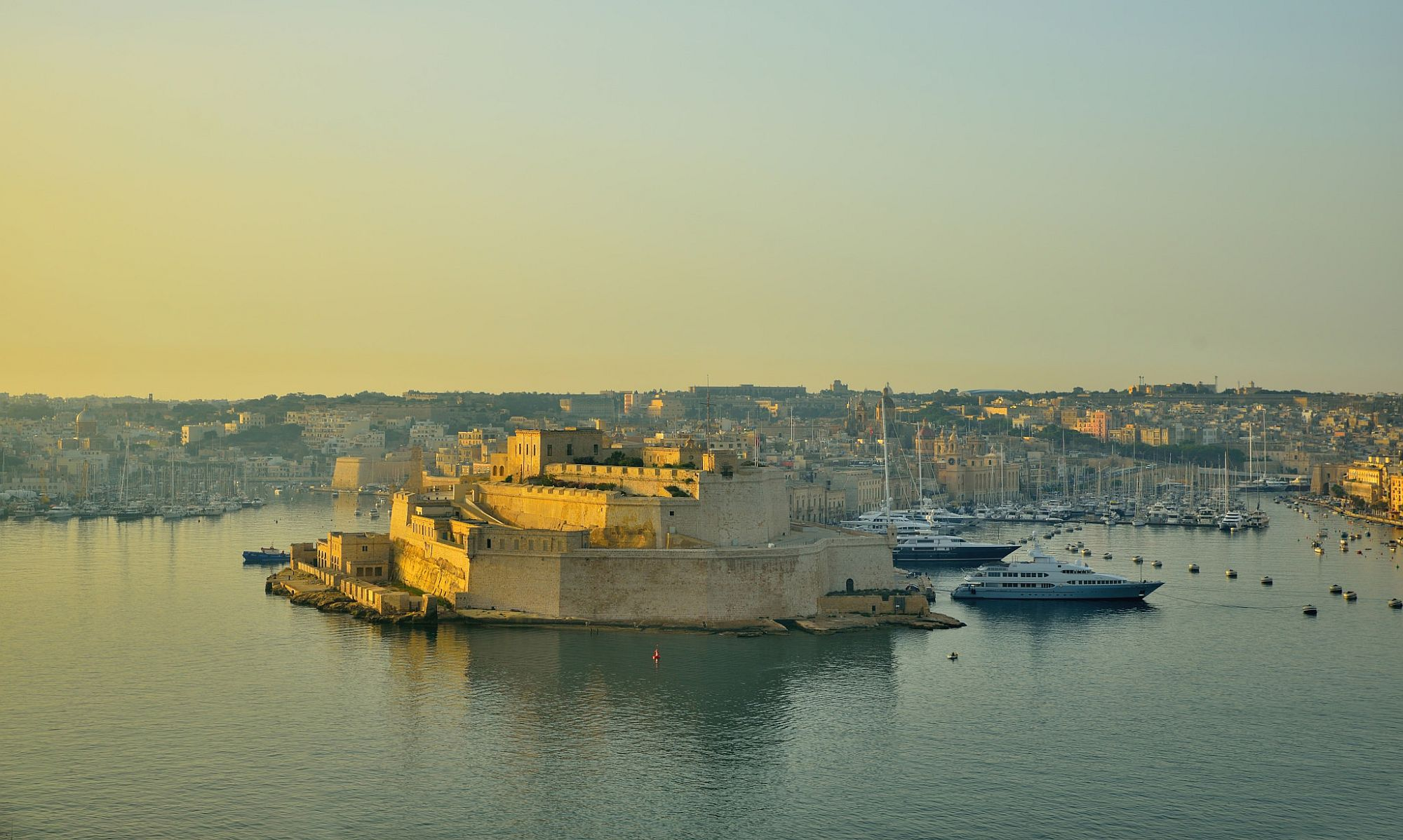 View of the iconic Fort Saint Angelo in Birgu