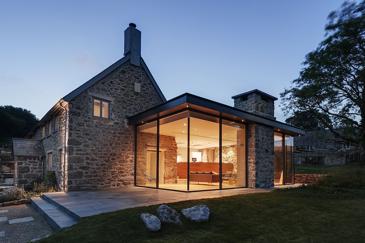 18th century Dartmoor farmstead revamped into contemporary family home Glass and Timber Extension Revamps 18th Century Farmstead in UK