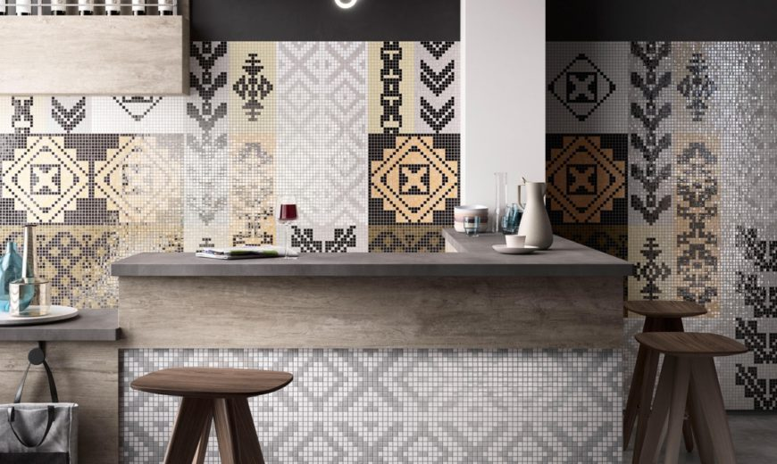 Two Italian Companies Present Different Mosaic Art Styles in Design