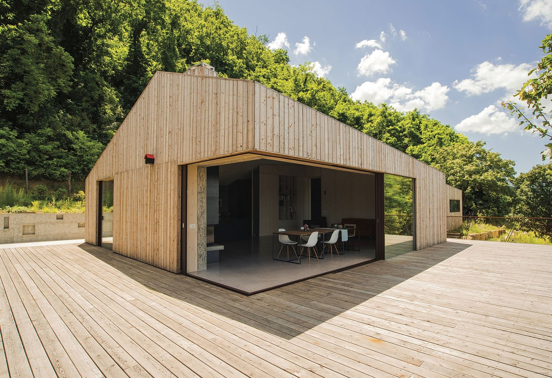 Wood Cement And Glass Shape Modern Eco Friendly B B In Veneto