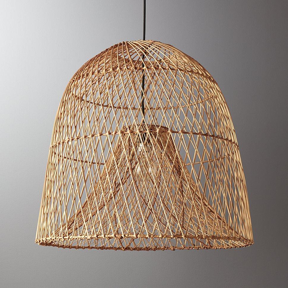 Basket pendant light from CB2