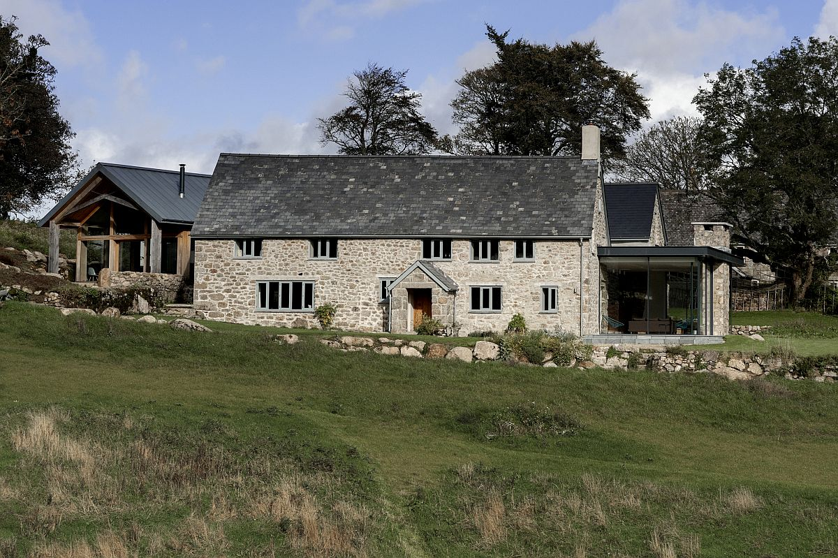 Beautiful makeover of the Dartmoor farmstead into a stylish contemporary home