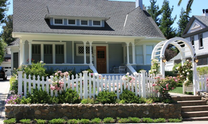 Living the American Dream with a White Picket Fence!
