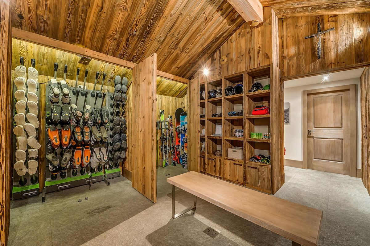 Boot-room-at-the-extravagant-ski-chalet-in-French-Alps