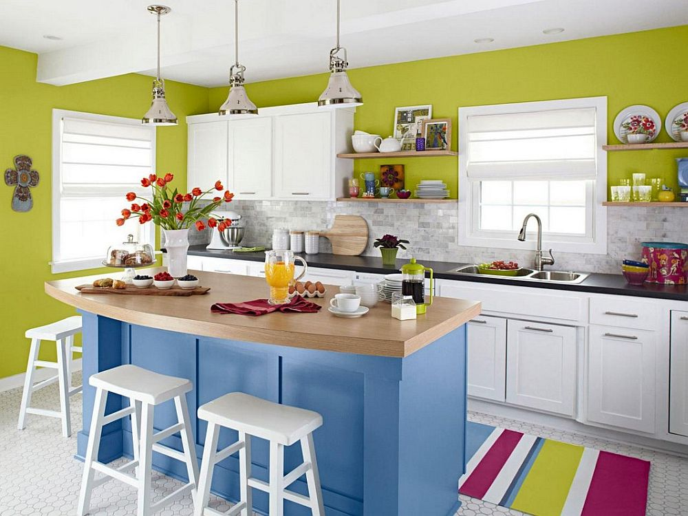 Bright and vivacious use of color in the modern kitchen