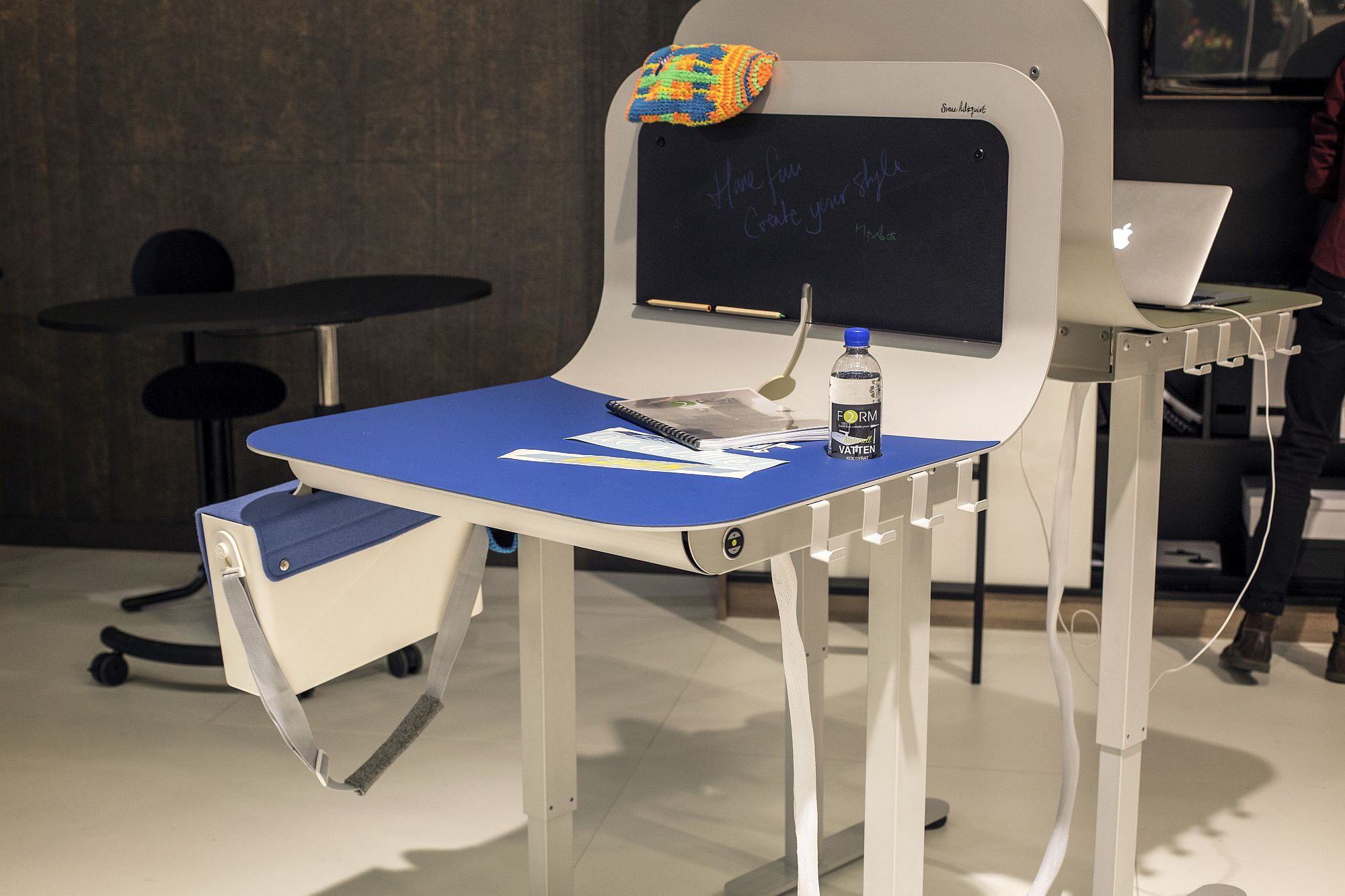 Colorful and dashing desks are both fun and space-savvy