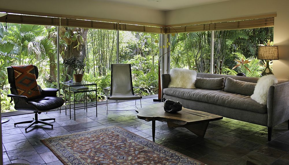 Combine different furniture pieces for a more versatile sunroom