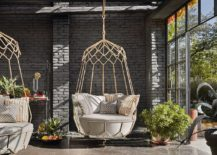 Comfy swinging outdoor sofa Gravity is perfect for the sunroom 217x155 Cozy Retreat for Summer and Beyond: Sunroom Seating Ideas