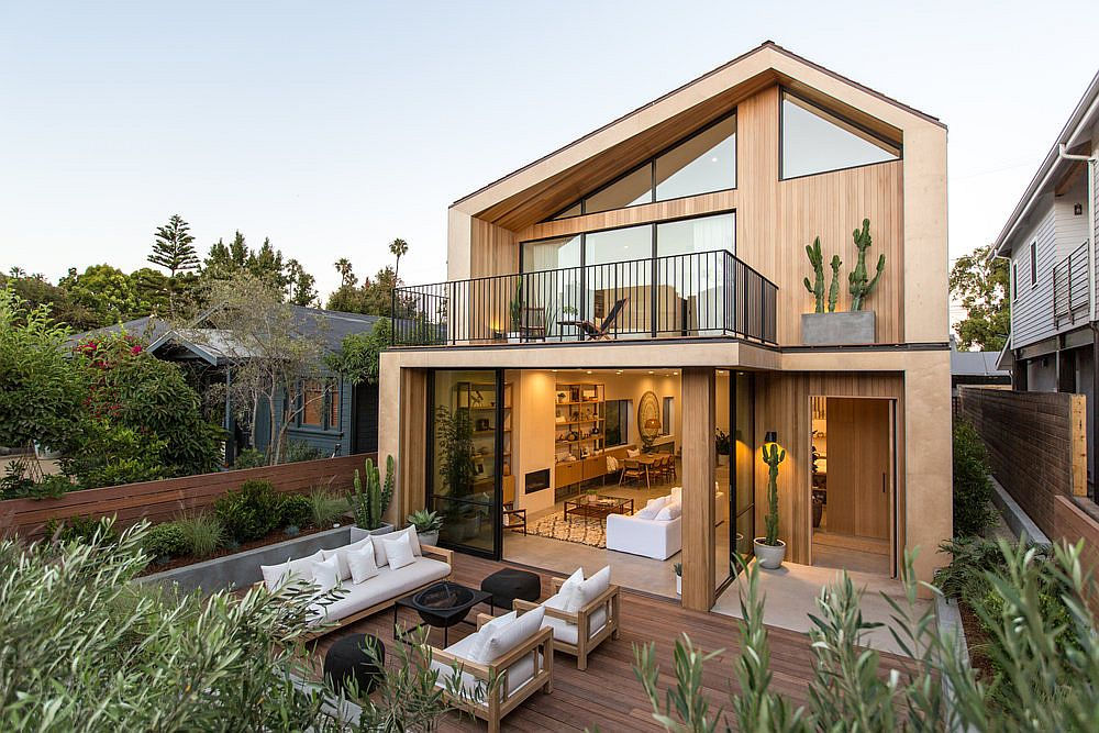 Delightful scandinavian style venice beach residence in for Modern scandinavian house plans