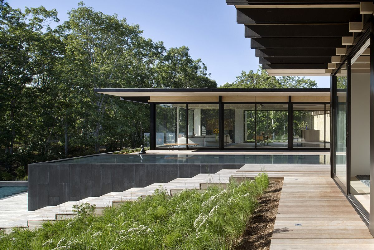 Contemporary home for family that enjoys the outdoors Inspired by the Elements: Contemporary Promised Land in New York