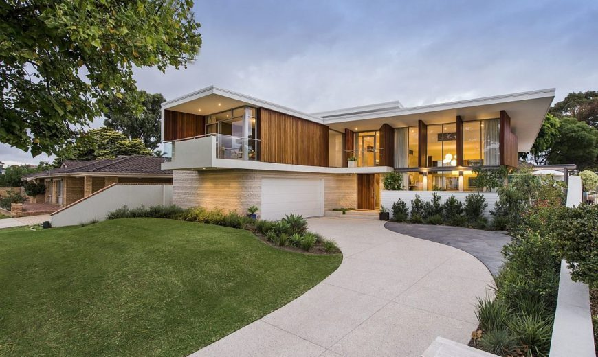 Stained Timber and Stonework Shape Mid-Century Modern Aussie Home