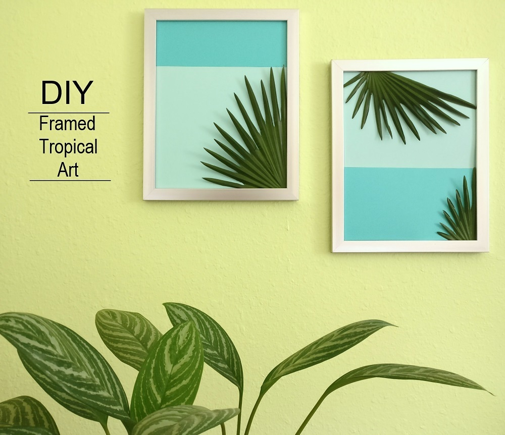 DIY framed tropical art