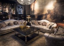 Dashing traditional coffee table in gold and black 217x155 Dark Magic: 20 Dashing Coffee Tables in Black