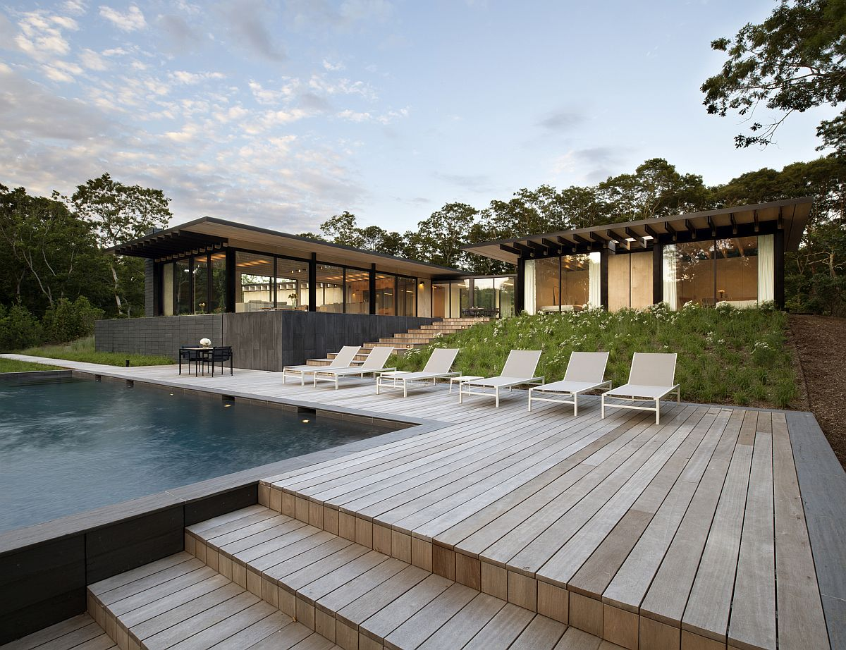 Deck and pool at the Promised Land