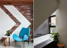 Exposed-and-painted-brick-wall-inside-the-modern-extension-and-bathroom-in-white-217x155