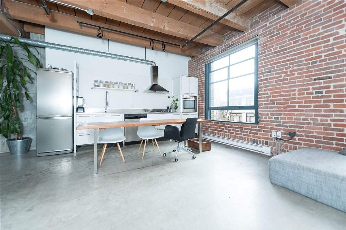Modern Industrial Vancouver Apartment in Wood