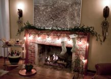 Fireplace-decorated-with-string-lights-217x155