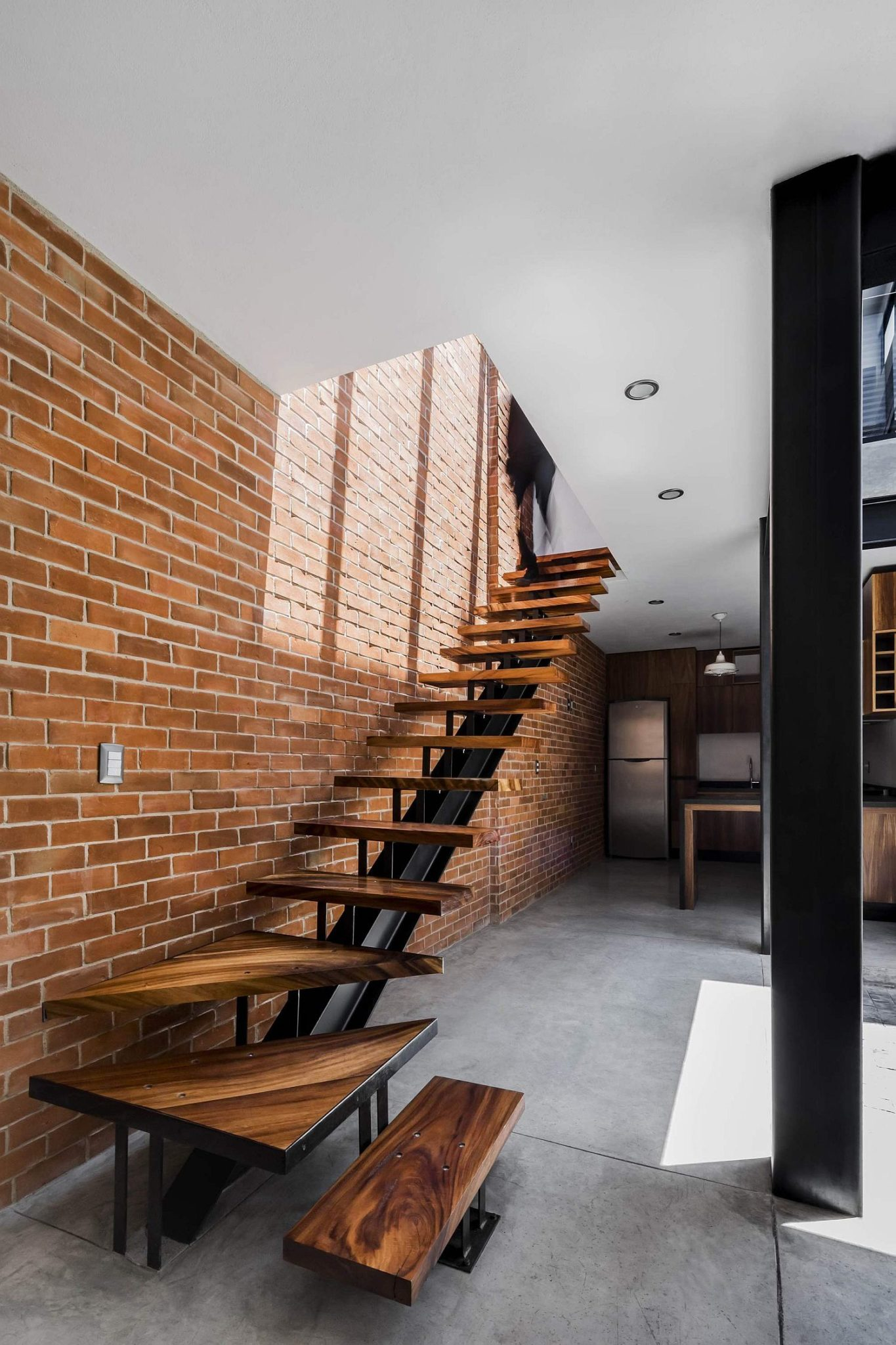 Exposed Brick Walls Steal The Show In This Modern