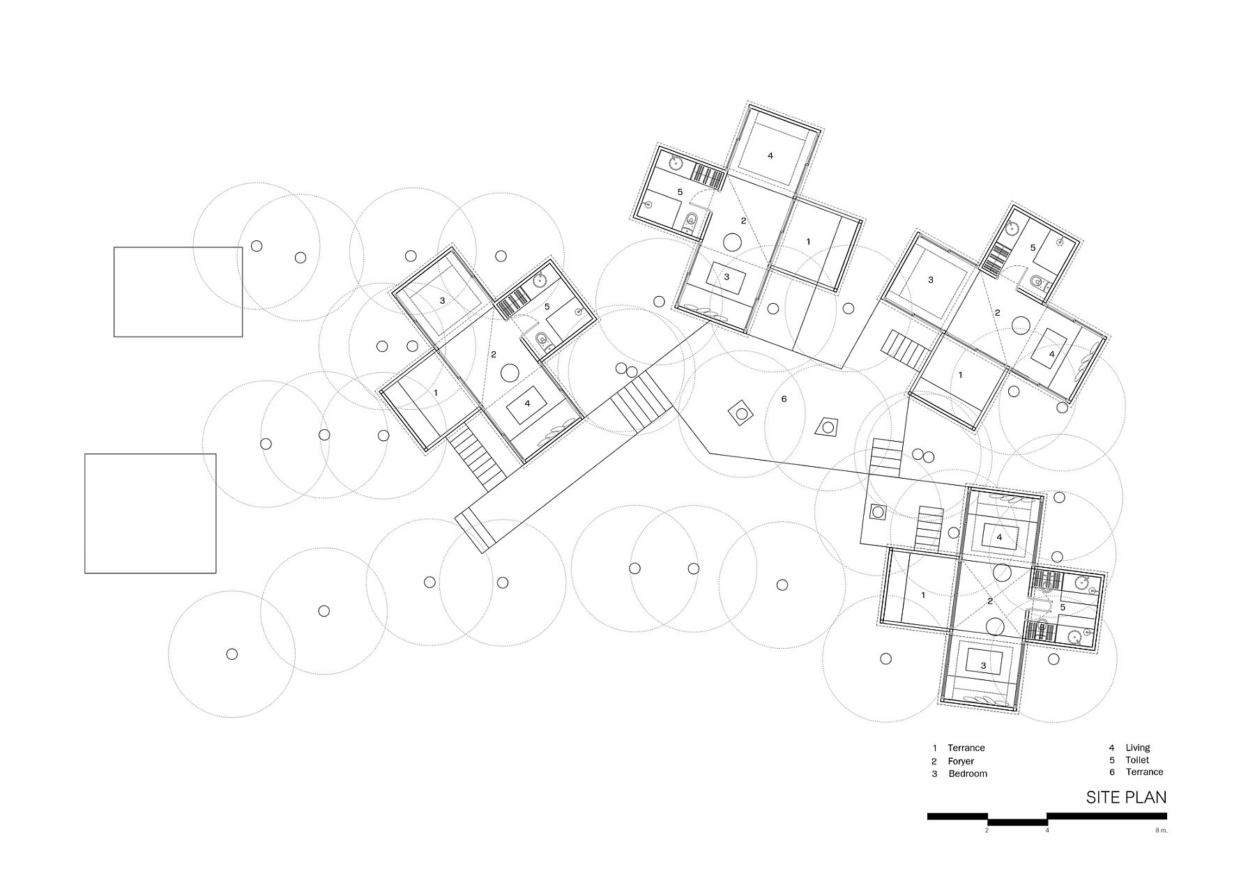 Floor-plan-and-site-plan-of-the-Forest-House