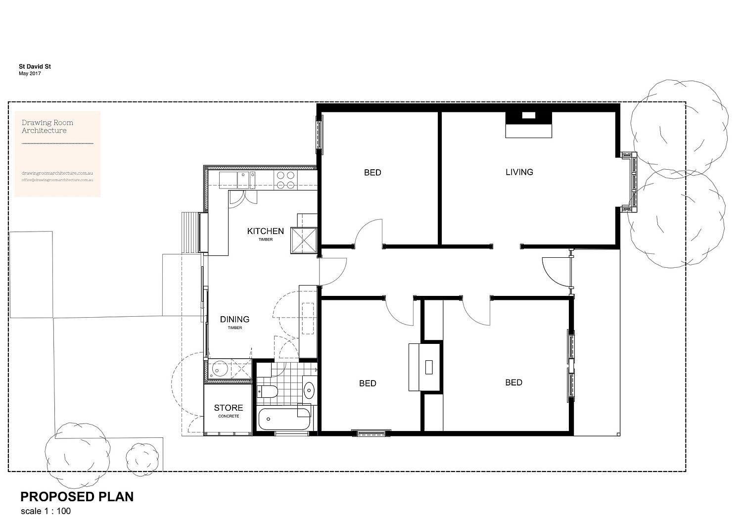 Floor plan of contemporary extension in Melbourne