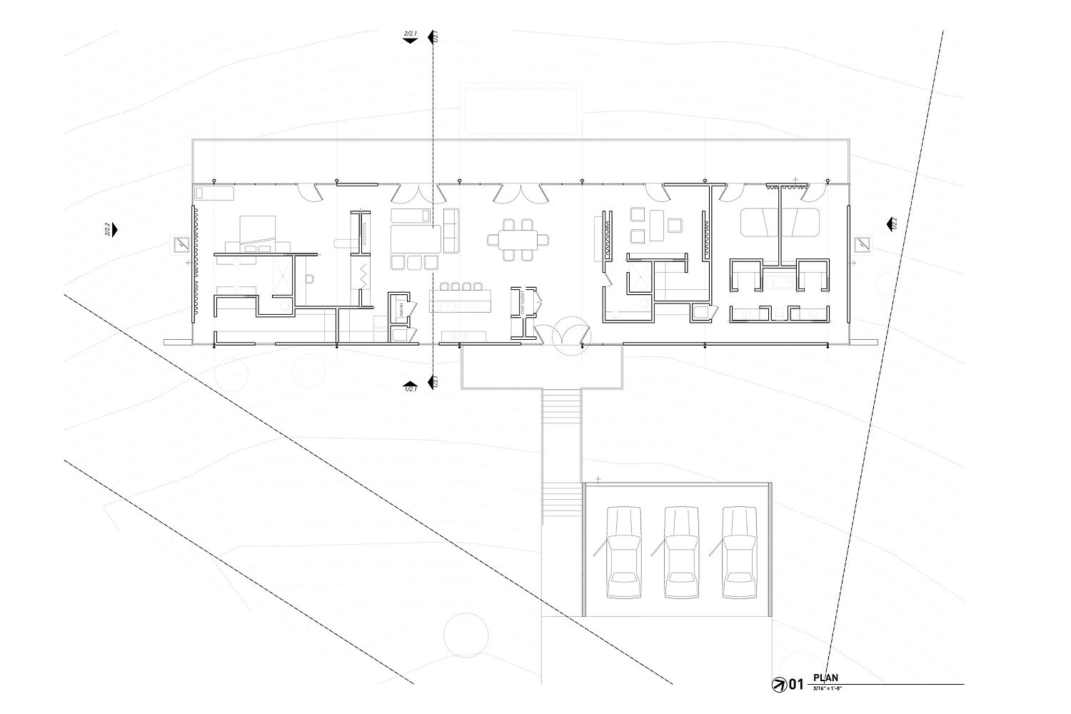 Floor plan of the RoadRunner Residence