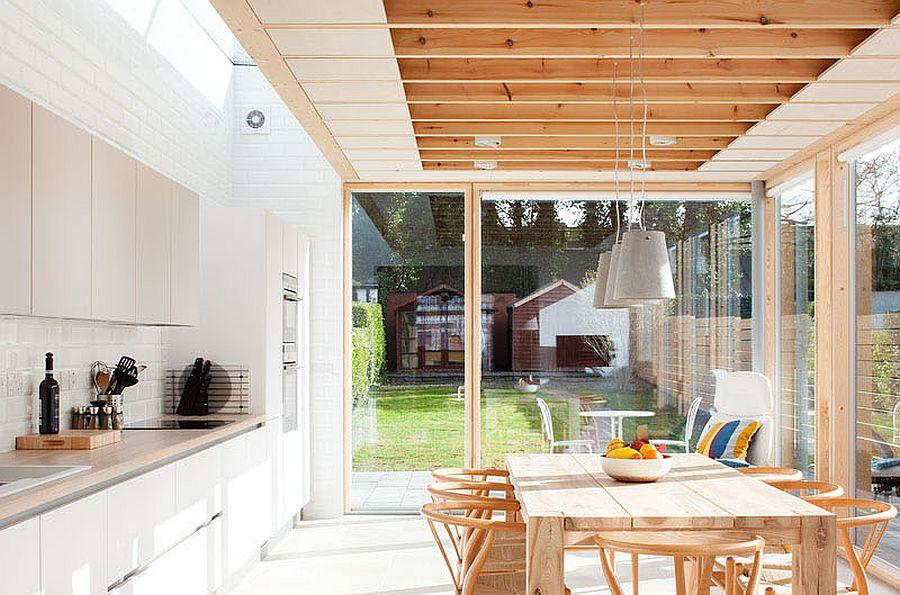 Glass walls and sliding doors bring ample natural light